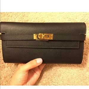 House of Hello Black Leather Wallet